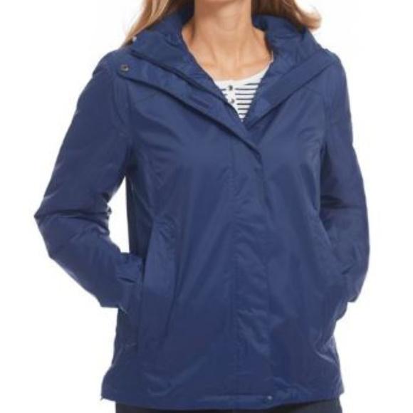 649bede97fb {LL Bean} EUC Trail Model Rain Jacket Fleece Lined